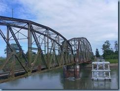 Verrostete Grenzbrücke