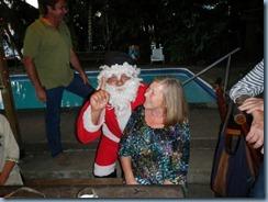 Karin mit Santa Claus